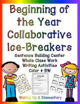 Beginning of the Year Ice-breakers-Collaborative Sentence Building