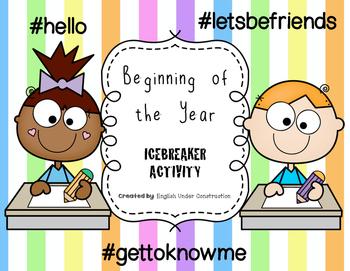Beginning of the Year Icebreaker Activity - #hello