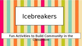 Beginning of the Year Icebreakers