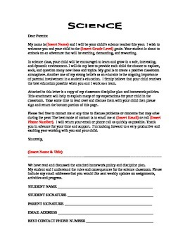Beginning of the Year Information Packet