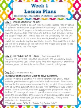 Introduction to Science and Notebooking