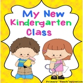 First Week Back to School Kindergarten Activity Book Distance Learning