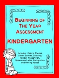 Beginning of the Year Kindergarten Assessment