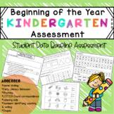 Beginning of the Year Kindergarten Assessment - Baseline D