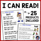 Alphabet Sentences, Sight Word Sentences & Kindergarten Reading Bundle
