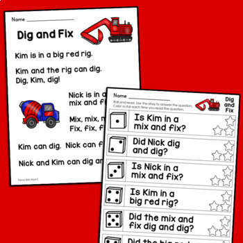 Alphabet Sentences, Sight Word Sentences and Kindergarten Reading Bundle