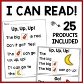 Kindergarten Reading: Sight Word & CVC Phonics Games + Com