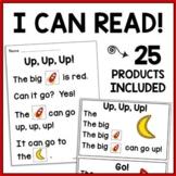 Kindergarten Reading Sight Word & CVC Phonics Games + Comprehension Worksheets