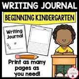Beginning of  the Year Kindergarten Writing Journal