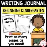 Beginning of  the Year Kindergarten Writing Journal