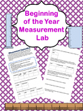 Beginning of the Year Lab: Measurement Exploration