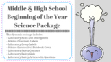 Beginning of the Year Laboratory Package for Awesome Teachers