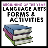 Beginning of the Year Language Arts Forms & Activities - G