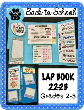 First Day of School- LAP BOOK