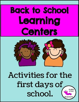 Beginning of the Year Learning Centers