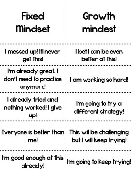 Beginning of the Year Lesson: Introduction to Growth Mindset