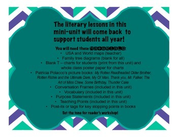 Back to School Lessons for Reader's Workshop Using Patricia Polacco