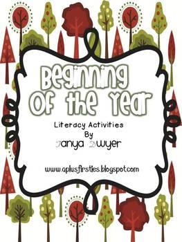 Beginning of the Year Literacy Activities
