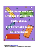 Beginning of the Year Literacy Stations- Third Grade
