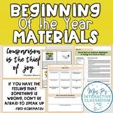 Beginning of the Year Materials (Short Syllabus, Passes, W