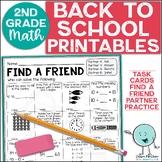 Back to School Activities 2nd Grade Math Reviewing 1st Grade Standards