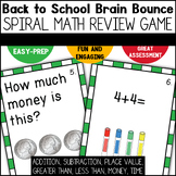 Back to School Spiral Math Review for First Grade