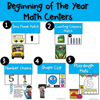 Beginning of the Year Math Centers
