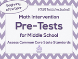 Middle School Math Intervention Pre-Assessments Bundle for