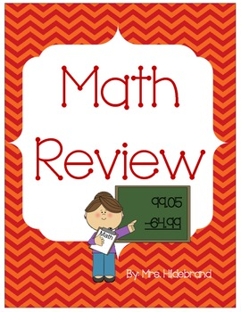 Beginning of the Year Math Review