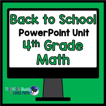 Back to School Math Review 3rd Grade to 4th Grade Math Uni