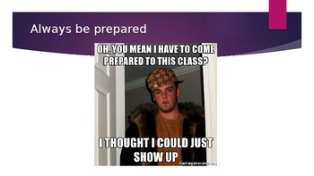 Beginning of the Year Memes about Classroom Rules and Tips