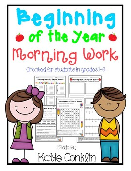 Beginning of the Year Morning Work, grades 1-3