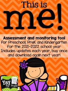 Back to School - Name and Self Portrait monitoring tool for PreK and K!