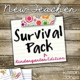 New Teacher Survival Pack for Kindergarten