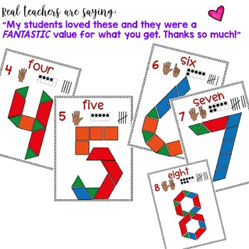 Beginning of the Year Number Fun with Pattern Blocks ... mini edition!