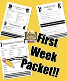 Beginning of the Year Packet (Part 1)