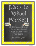 Back to School Packet - School Theme