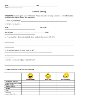 Beginning of the Year Packet for the Thoughtful Classroom Teacher