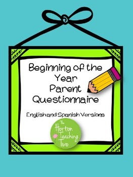 Parent Questionnaire in English and Spanish