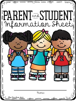 Beginning of the Year - Parent and Student Information Sheet