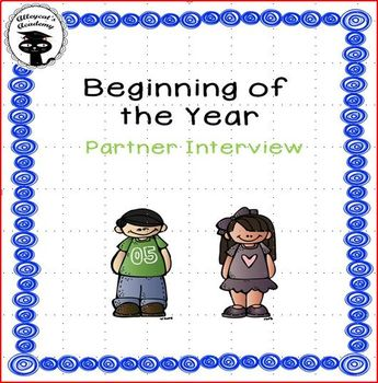 Beginning of the Year Partner Interview