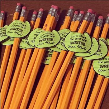Beginning of the Year Pencil Gift Tags