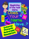 Phonemic Awareness Beginning of the Year Name Game for 3rd-5th Grade