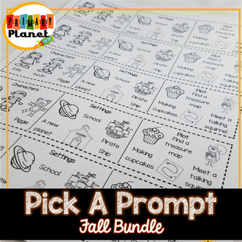 Fall Writing Prompt Bundle Back to School, Writer's Worksh