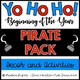 Beginning of the Year Pirate Activities and Decor