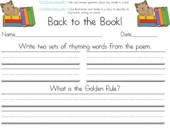 Character Education Decodable Reader Black and White