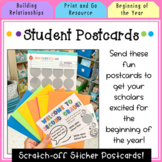 Beginning of the Year Postcards for Students