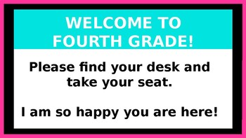 Beginning of the Year PowerPoint