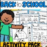 Beginning of the Year Pre-K (Preschool) (Back to School PreK Activities)