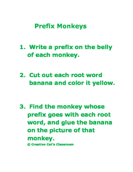 Beginning of the Year Prefixes for 2nd and 3rd Grade Students